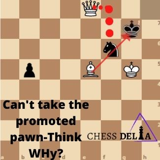 Can a promoted pawn be taken immediately?
