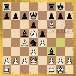 Capablanca vs the opponent copy cat game position after first ten moves