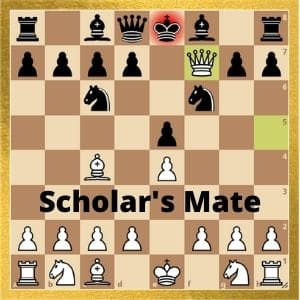 example-of-scholar's-mate-in-which-checkmate-occurs-without-check